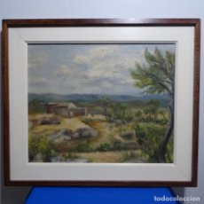 Arte: OLEO ILEGIBLE SOBRE TELA.ESCUELA CATALANA.. Lote 183868045