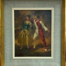 Arte: MANUEL MONEDERO (SEVILLA 1925-2002), PEQUEÑA E INTERESANTE PINTURA ORIGINAL FIRMADA.. Lote 183867373