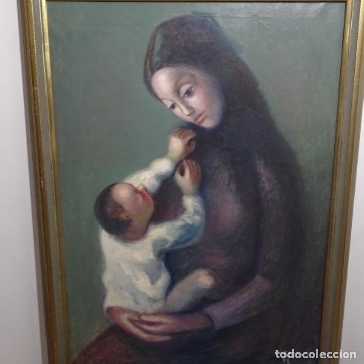 Arte: Gran óleo sobre tela firmado Pizarro.escuela Pedro bueno. - Foto 2 - 183962627