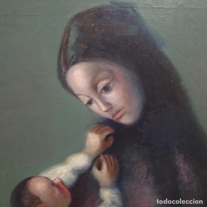 Arte: Gran óleo sobre tela firmado Pizarro.escuela Pedro bueno. - Foto 3 - 183962627