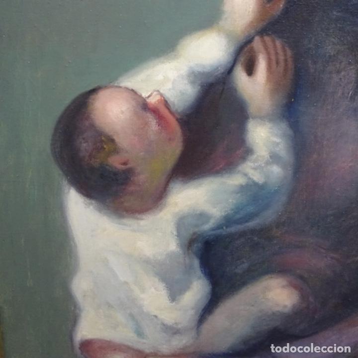 Arte: Gran óleo sobre tela firmado Pizarro.escuela Pedro bueno. - Foto 4 - 183962627