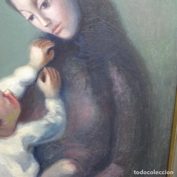 Arte: Gran óleo sobre tela firmado Pizarro.escuela Pedro bueno. - Foto 7 - 183962627
