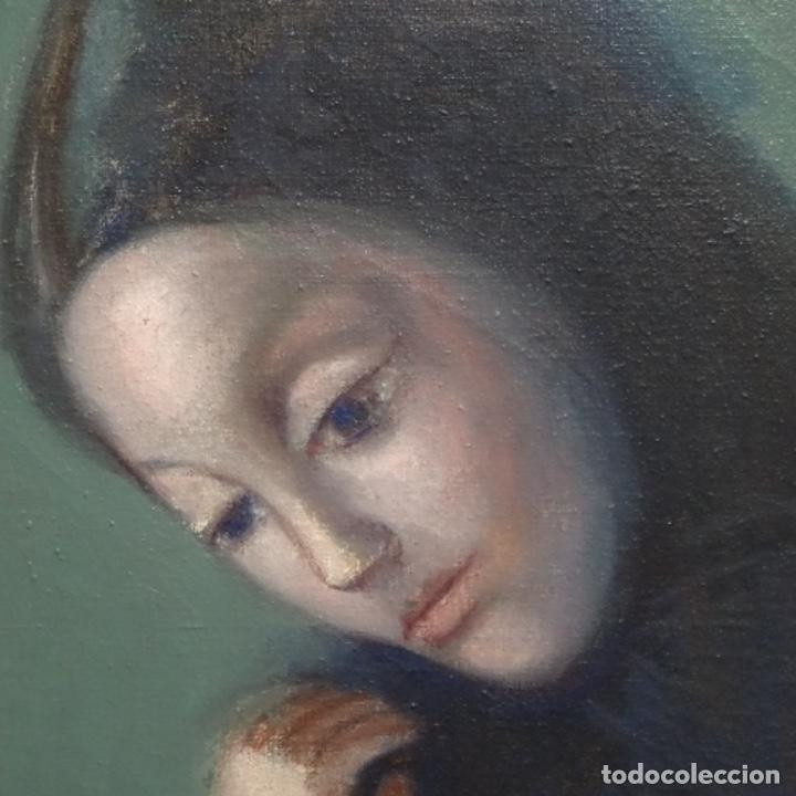 Arte: Gran óleo sobre tela firmado Pizarro.escuela Pedro bueno. - Foto 8 - 183962627