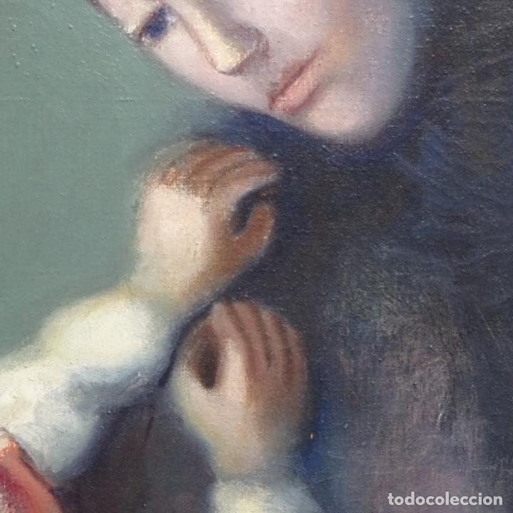 Arte: Gran óleo sobre tela firmado Pizarro.escuela Pedro bueno. - Foto 9 - 183962627