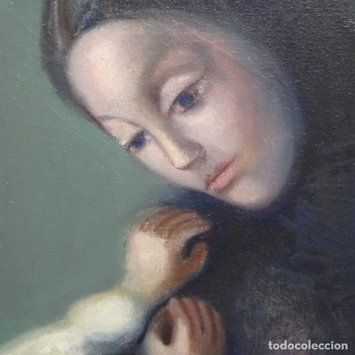 Arte: Gran óleo sobre tela firmado Pizarro.escuela Pedro bueno. - Foto 13 - 183962627