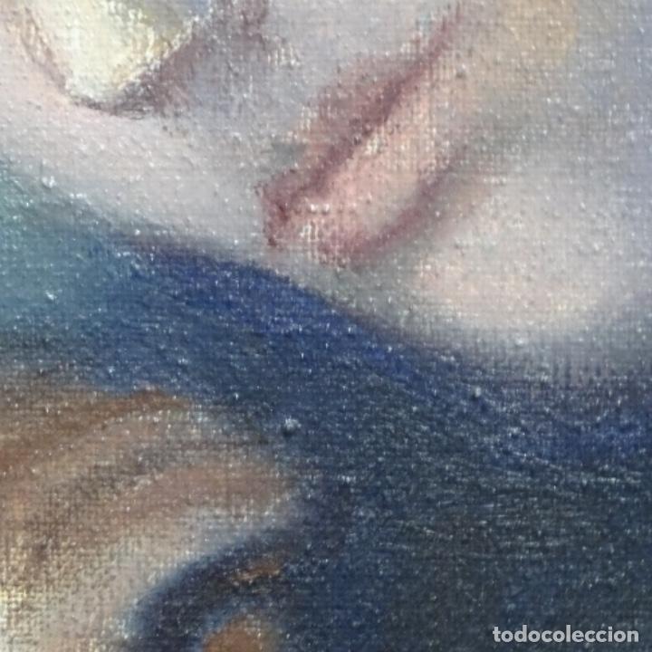 Arte: Gran óleo sobre tela firmado Pizarro.escuela Pedro bueno. - Foto 19 - 183962627