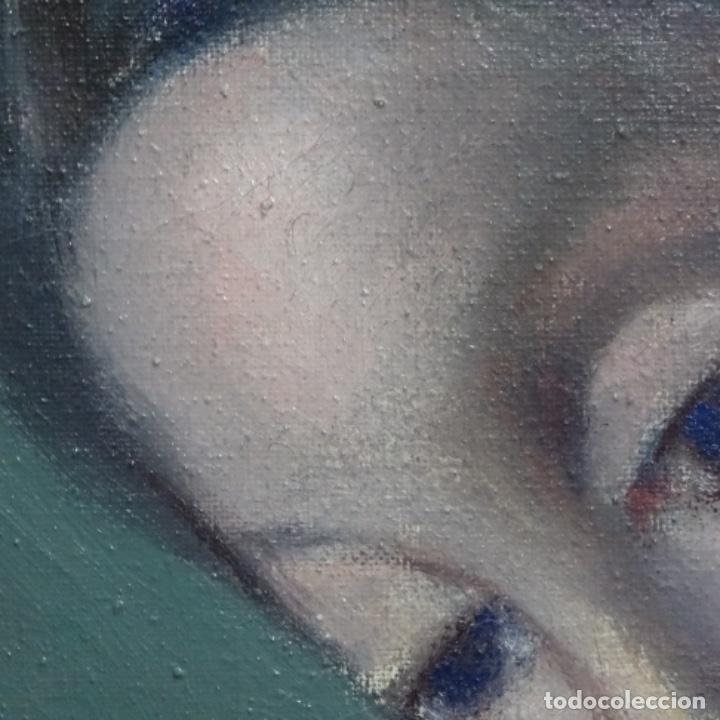 Arte: Gran óleo sobre tela firmado Pizarro.escuela Pedro bueno. - Foto 20 - 183962627
