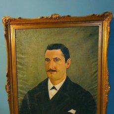 Arte: RETRATO OLEO SOBRE TELA ENMARCADO CABALLERO SIGLO XIX GUTIERREZ ZAMORA. Lote 183977550