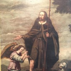 Arte: SAN ROQUE PINTURA ESPAÑOLA DEL XVIII. Lote 184009676