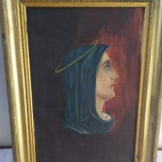 Arte: ANTIGUA PINTURA RELIGIOSA ÓLEO SOBRE LIENZO SIGLO XIX. Lote 184017367