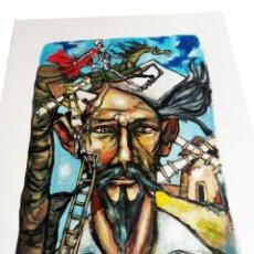 Arte: RETRATO DEL QUIJOTE DE GRAN CALIDAD, ACRÍLICO. FIRMADO POR EL AUTOR. MEDIDA DE LA OBRA: 55 X 38 CM.. Lote 184059742