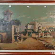 Arte: ESCENA GALANTE. ÓLEO SOBRE TABLA. FIRMA ILEGIBLE. SIGLO XIX. . Lote 184088568