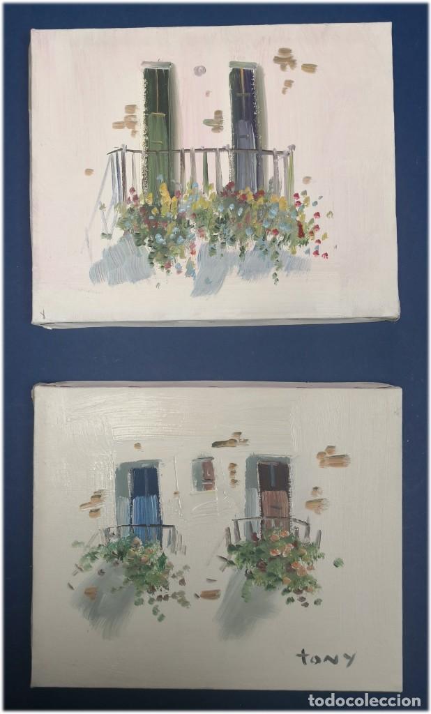 JUEGO DE 2 PINTURAS AL OLEO ORIGINALES DE TAMAÑO 22X27 (Arte - Pintura - Pintura al Óleo Contemporánea )