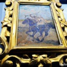 Arte: ORIENTALISTA - JOAN LLAURADÓ 1920 - OLEO /TABLA - GUERRERO ÁRABE - GRAN MARCO DE ÉPOCA / FIRMADO. Lote 184196067
