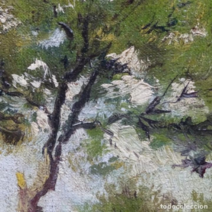 Arte: Oleo reentelado anonimo del XIX.buen trazo. - Foto 20 - 184219361
