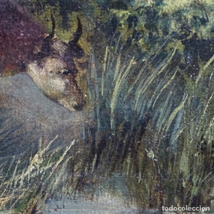 Arte: Oleo reentelado anonimo del XIX.buen trazo. - Foto 22 - 184219361