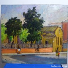 Arte: OLEO SOBRE TABLEX DE JOAN BARO PINTOR DE TERRASSA.ESCUELA CATALANA DE CALIDAD.. Lote 184220948