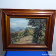 Arte: OLEO SOBRE TABLEX ESCUELA CATALANA DE BUEN TRAZO.CIRCULO TOMÀS VIVER-VANCELLS.. Lote 184222015