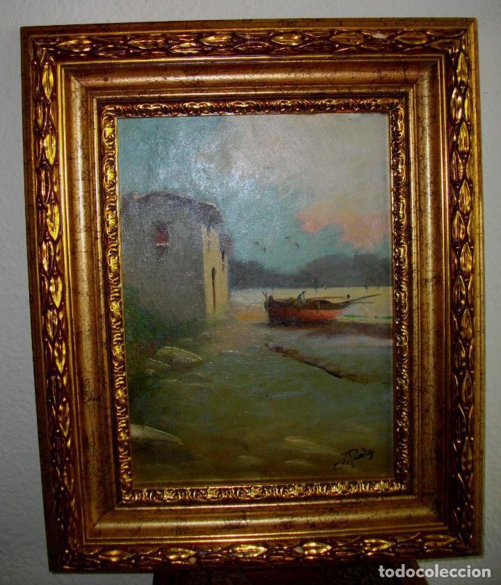 OLEO SOBRE LIENZO/TABLILLA DE JOSE RUEDA 1927 (MALAGA)51 X 40 CTMS CON MARCO (Arte - Pintura - Pintura al Óleo Contemporánea )