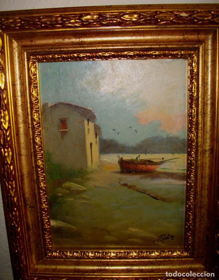 Arte: oleo sobre lienzo/tablilla de JOSE RUEDA 1927 (MALAGA)51 X 40 CTMS CON MARCO - Foto 2 - 184271008