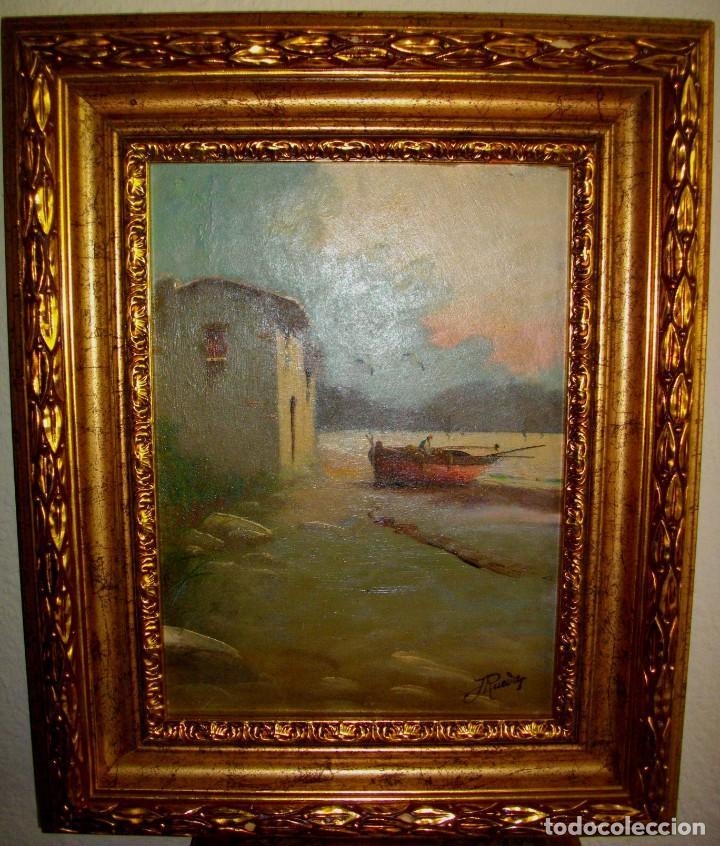 Arte: oleo sobre lienzo/tablilla de JOSE RUEDA 1927 (MALAGA)51 X 40 CTMS CON MARCO - Foto 3 - 184271008