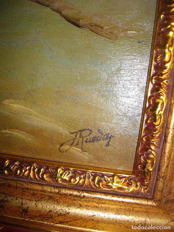 Arte: oleo sobre lienzo/tablilla de JOSE RUEDA 1927 (MALAGA)51 X 40 CTMS CON MARCO - Foto 4 - 184271008