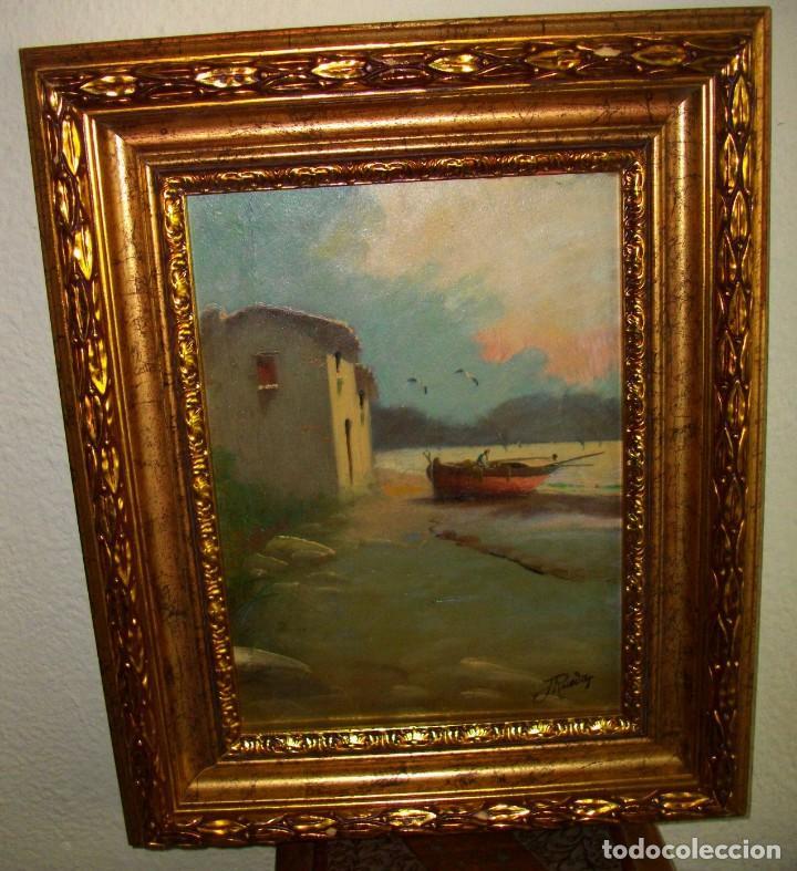 Arte: oleo sobre lienzo/tablilla de JOSE RUEDA 1927 (MALAGA)51 X 40 CTMS CON MARCO - Foto 6 - 184271008
