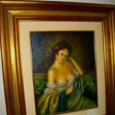Arte: OLEO SOBRE LIENZO ENTABLILLADO DE ALBA ¿(( 48 X 34 CTMS )) CON MARCO INCLUIDO. Lote 184271406
