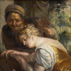 Arte: TALLER DE RUBENS - STA CATALINA CON SU MADRE. Lote 184276012