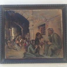 Arte: BONITO CUADRO PINTURA ANTIGUA PRINCIPIO SIGLO XX AL OLEO FIRMADO VIZCAY FECHADO AÑOS 30 A RESTAURAR. Lote 184354170