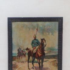 Arte: ANTIGUO CUADRO PINTADO AL OLEO CABALLOS Y GUARDIA CIVIL FIRMADO ANTONIO TEN PRÍNCIPIOS DEL SIGLO XX. Lote 184358066