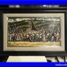 Arte: OLEO DE ANTONIO PAN (1926-2001) PASO DE SEMANA SANTA. Lote 184393680