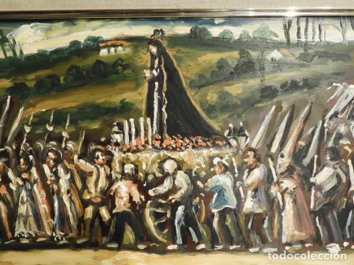 Arte: OLEO DE ANTONIO PAN (1926-2001) PASO DE SEMANA SANTA - Foto 3 - 184393680