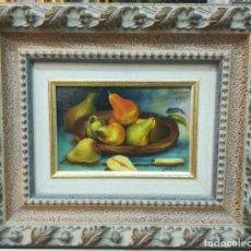 Arte: PRECIOSA ESCENA DE BODEGON FRUTAL DE 18X11 POR EL ARTISTA A.REYES. Lote 184405176