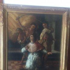 Arte: IMPRESIONANTE OLEO ESCUELA DE JUAN VALDES LEAL(1622-1690) EL MARTIRIO DE SAN PEDRO DE ARBUES S. XVII. Lote 184415576