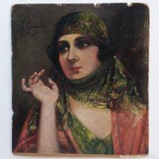 Arte: GIUSTO FAUSTO (ATTRIB.) (1867-1941) PINTOR ITALIANO. OLEO SOBRE CARTÓN.. Lote 184483316