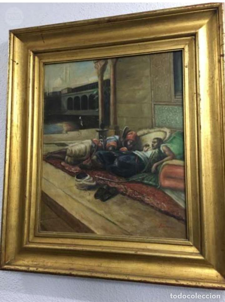 ÓLEO LIENZO ANTIGÜEDADES (Arte - Pintura - Pintura al Óleo Antigua sin fecha definida)