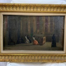 Arte: INTERIOR IGLESIA - MODESTO URGELL - (1839-1919) ÓLEO SOBRE TELA. Lote 184531448