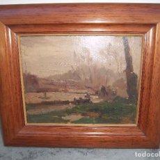 Arte: OLEO PUIG PERUCHO CON CERTIFICADO. Lote 184538821