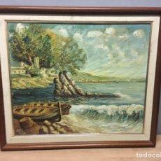 Arte: PINTURA AL ÓLEO SOBRE LIENZO FIRMADA. Lote 184605451
