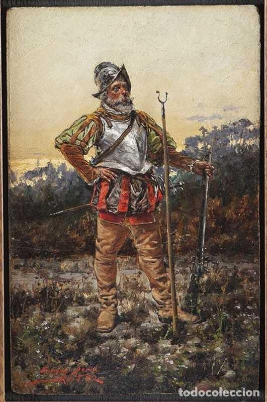 PINTURA DE SOLDADO DE ENRIC SERRA (Arte - Pintura - Pintura al Óleo Moderna siglo XIX)