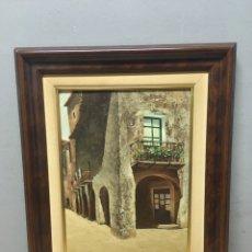 Arte: PINTURA AL ÓLEO SOBRE LIENZO FIRMADA POR MARK. Lote 184612535