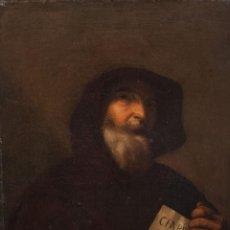 Arte: SEGUIDOR DE JOSÉ DE RIVERA- FECHADO EN 1852 - OLEO SOBRE LIENZO TÍTULO: SAN FRANCISCO DE PAULA. Lote 184623950