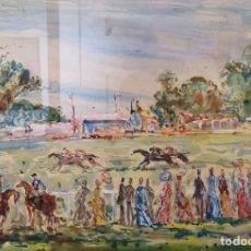 Arte: SOUTO, ARTURO. (PONTEVEDRA, 1902 - MÉXICO, 1964).LA HÍPICA. MIXTA SOBRE PAPEL. Lote 184640443