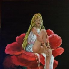 Arte: SENTADA EN LA ROSA. Lote 184643281