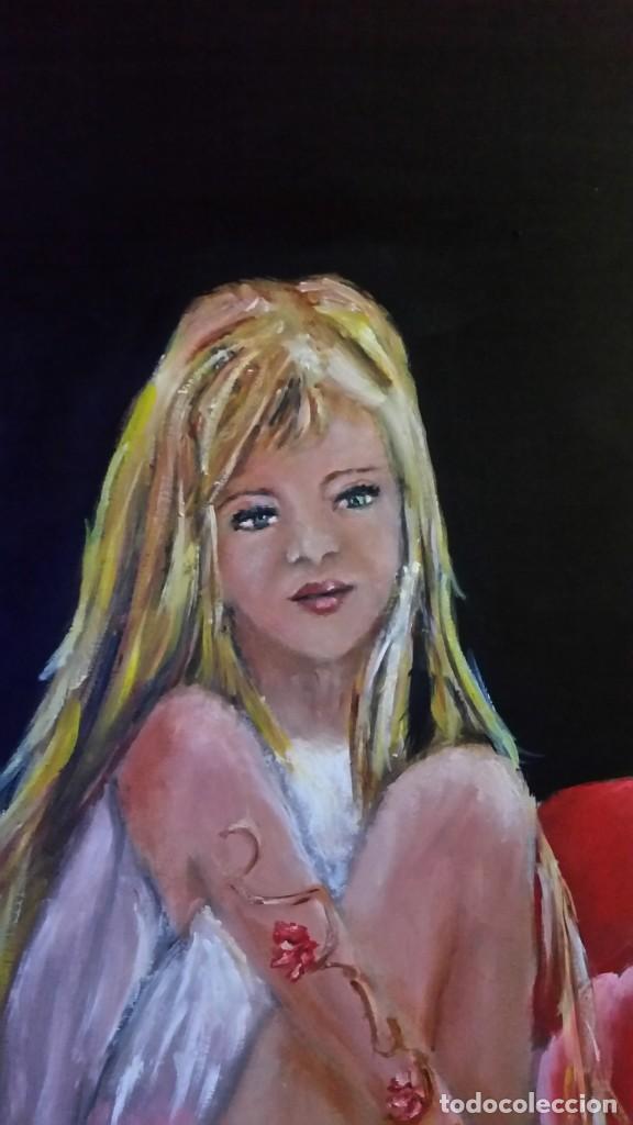 Arte: Sentada en la rosa - Foto 4 - 184643281