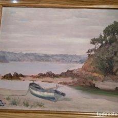 Arte: PINTURA AL ÓLEO. MARINA. PINTOR: FÉLIX VERDEJO. Lote 184648613
