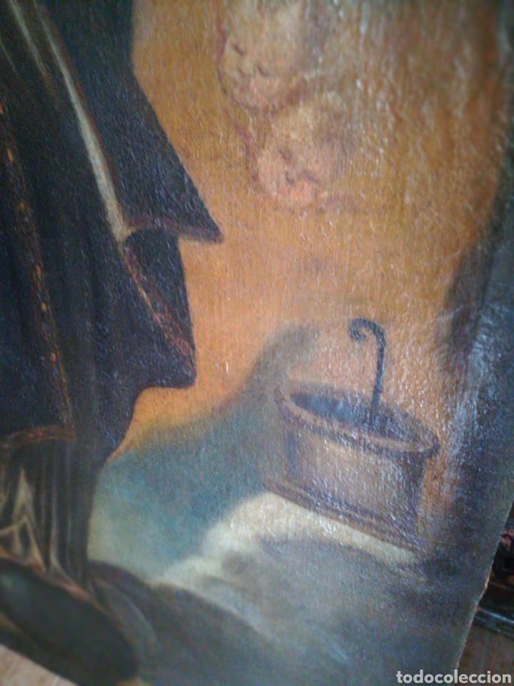 Arte: Virgen óleo sobre lienzo. Siglo XVII Gran tamaño - Foto 4 - 184694931