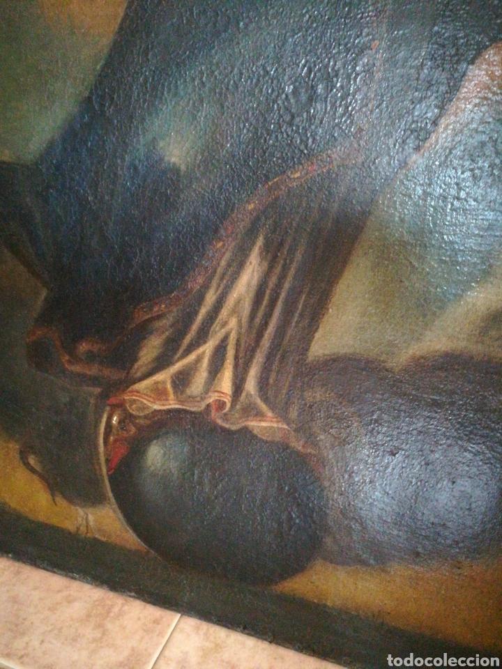 Arte: Virgen óleo sobre lienzo. Siglo XVII Gran tamaño - Foto 6 - 184694931