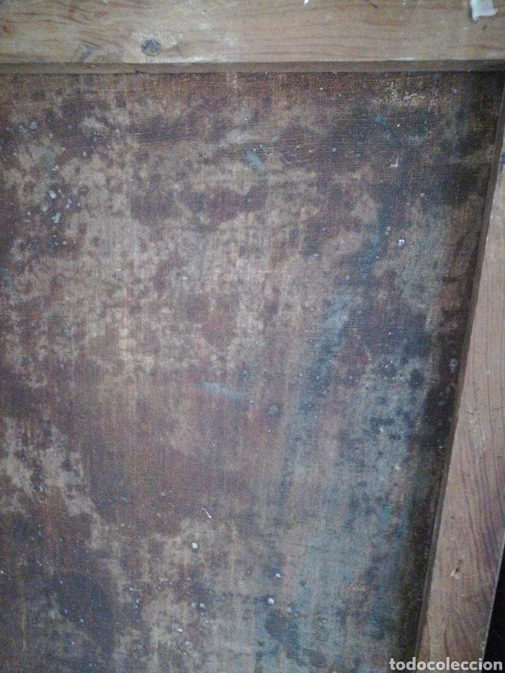 Arte: Virgen óleo sobre lienzo. Siglo XVII Gran tamaño - Foto 8 - 184694931